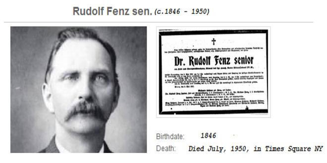 Documento y fotografia de Rudolf Fenz viajero del tiempo