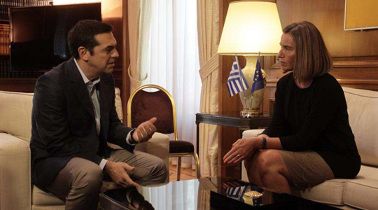 Name issue discussed during Mogherini's visit to Athens