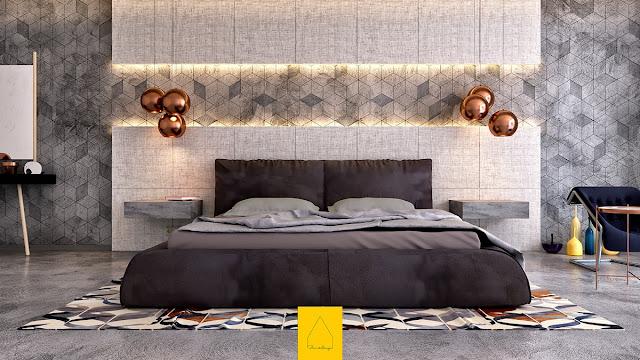 дизайн большой современной спальни