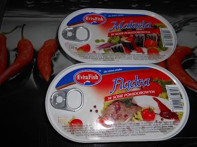 Stek- Rol- Makrela w sosie pomidorowym i Flądra w sosie pomidorowym