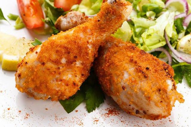 افخاذ الدجاج المخبوزة