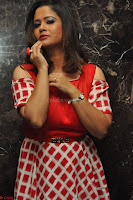 Shilpa Chakravarthy looks super cute in Red Frock style Dress 010.JPG