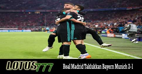 Real Madrid Taklukkan Bayern Munich 2-1