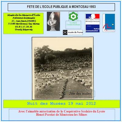 """Pochette du DVD """"Fête de l'Ecole Publique à Montceau-les-Mines, 1953"""