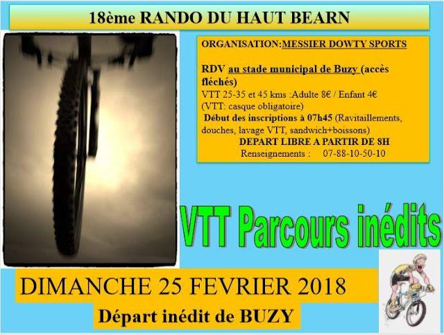 Rando VTT Haut Béarn 2018