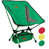 Trekology Compact Portable Camping Chair with Adjustable Height - Ultralight Backpacking Chair in a Bag for Camping, Fishing, Picnic, Patio, Sports, Events (Green)