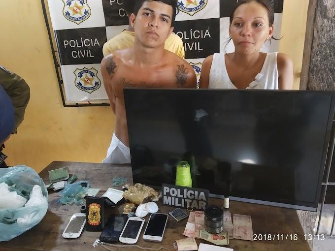TRÊS PESSOAS FORAM PRESAS PELA POLICIA ACUSADAS DE COMERCIALIZAÇÃO DE ENTORPECENTES EM ALENQUER.