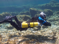 PADI Sidemount Diver in Profile in Cyprus
