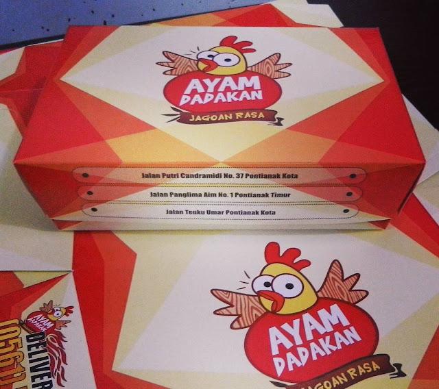 Pesanan Kotak Bungkus Ayam Dadakan