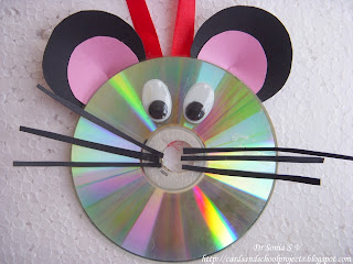 Recycled CD Craft Mouse
