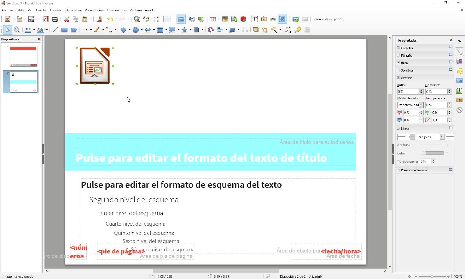 LibreOffice Impress - Patrón de diapositivas | Aplicaciones de Libre Uso