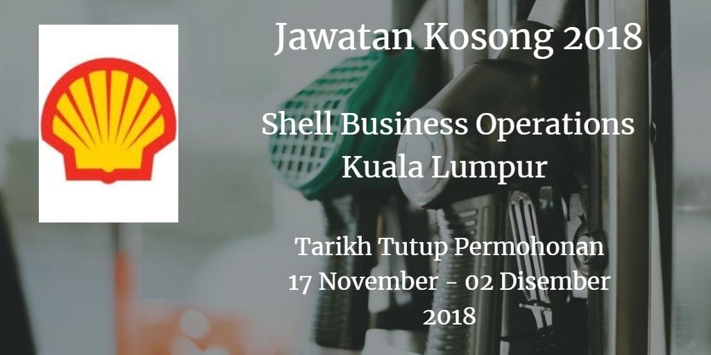 Jawatan Kosong Shell Business Operations Kuala Lumpur 17 November - 02 Disember 2018