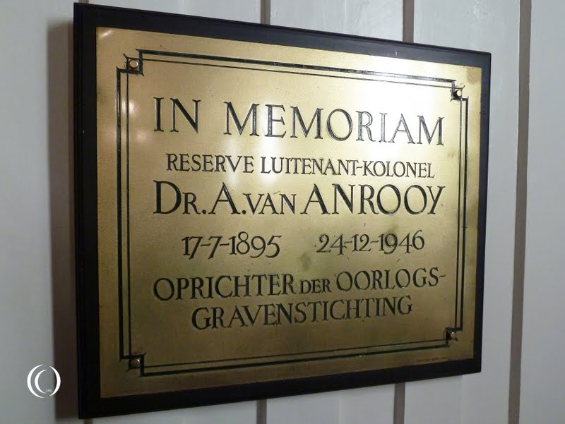 Founder of the Oorlogsgravenstichting Dr. A. van Anrooy