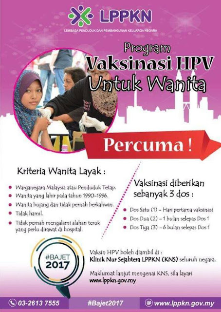 LPPKN Free HPV Vaccination Injection