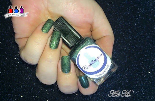 Cadillacquer, The Breaking Bad Collection, I'm The One Who Knocks, Verde, Indie Polish, Holografico, Shimmer Verde, Alê M