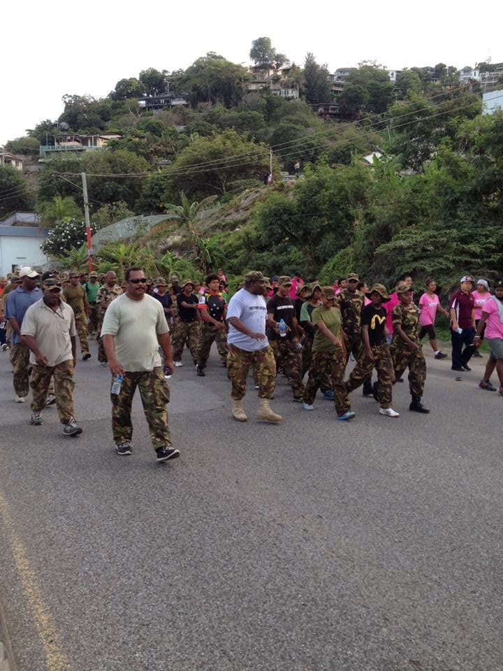 PNG army, Police, CIS stage march