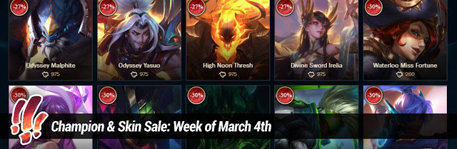 325fd4cee Surrender at 20  Champion   Skin Sale  Week of March 4th