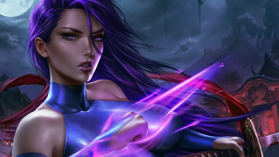Psylocke, Marvel, Superhero, Girl, 4K, #6.2005