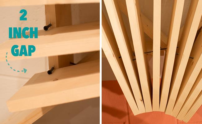 DIY modern wood installation display