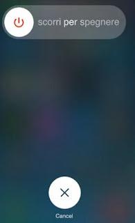 Spegnere iPhone