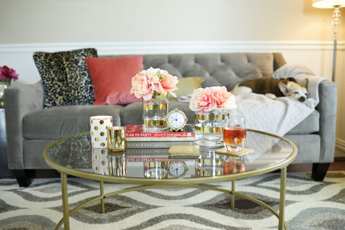 International lux round coffee table by @SauderUSA is a glam, chic and high quality piece that is under $125.