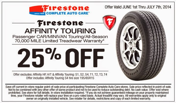 Firestone discount coupons for tires