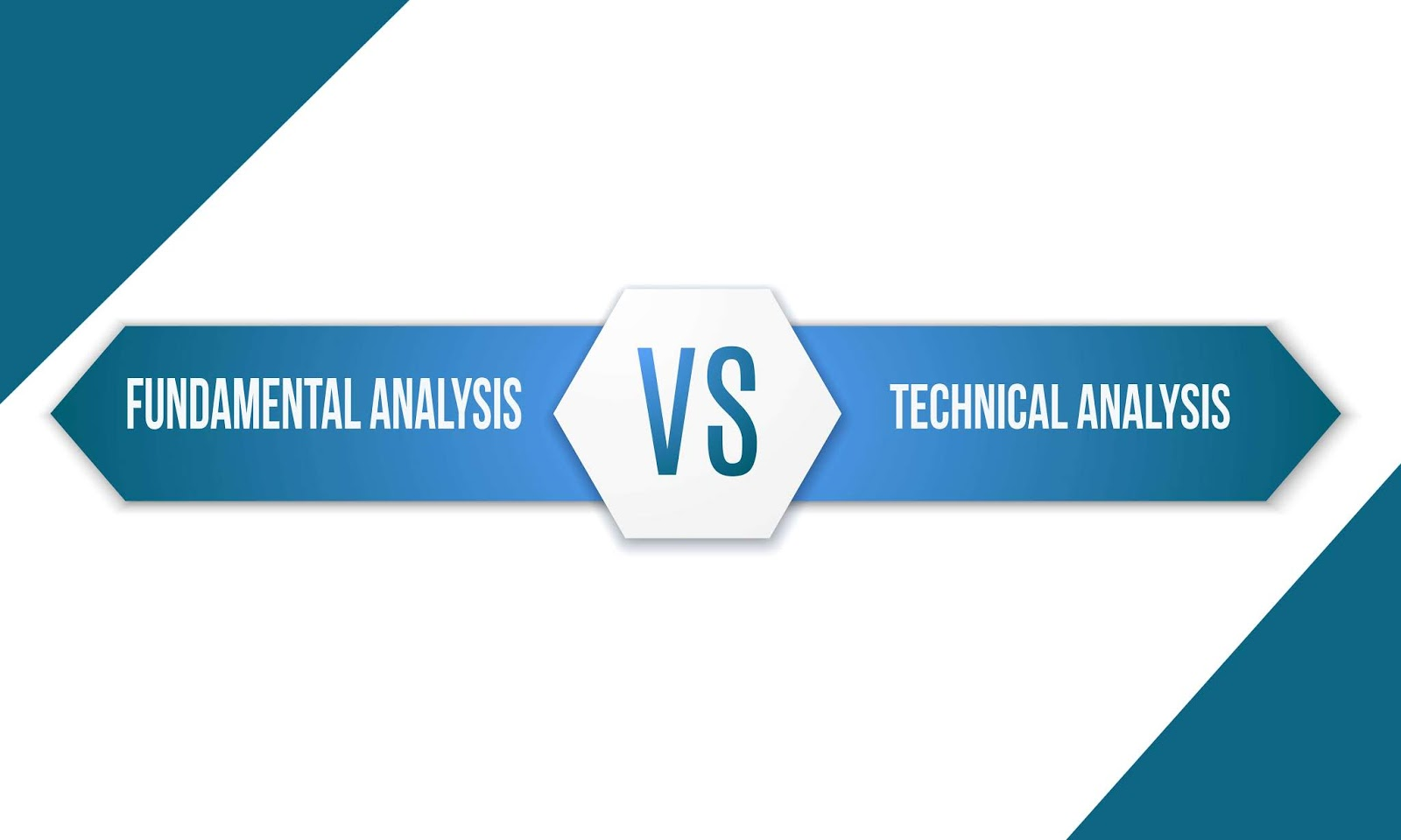 Fundamental analysis and technical analysis written on either side of the VS sign