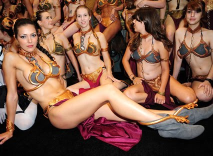 Adrianne Curry dressed as Princess Leia