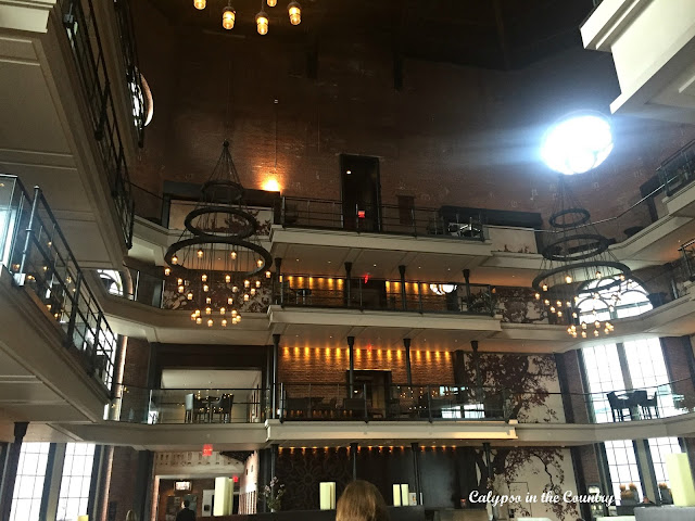 Lobby and Catwalk at the Liberty Hotel in Boston (formerly the Charles Street Jail!)