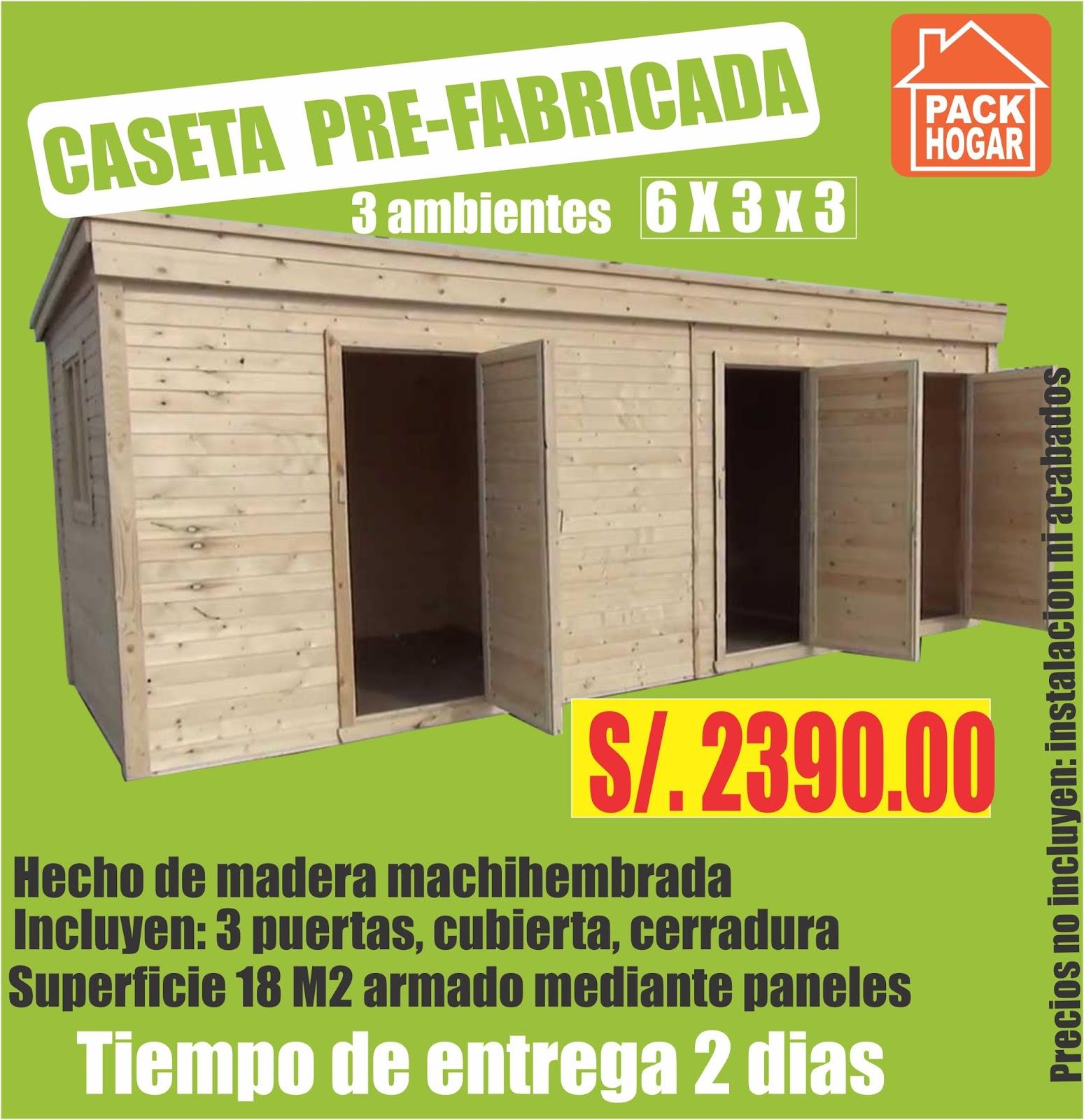 Caseta prefabricada para almacen en obras civiles - Casetas de obra para jardin ...