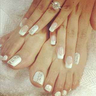Swag korner nail art white n silver nail art design dark grey n black lining nails prinsesfo Images