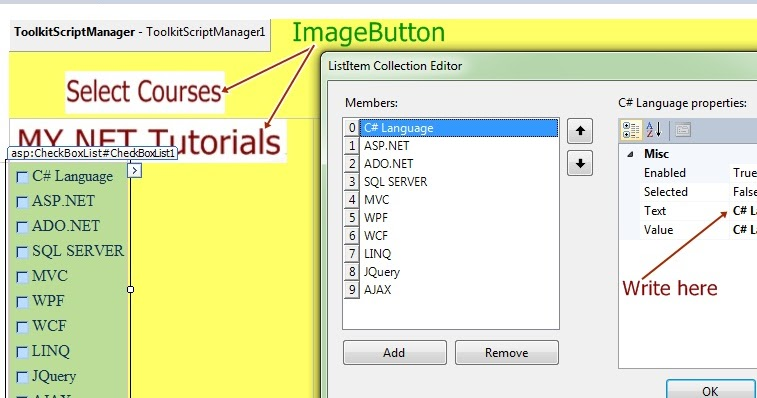 How to use HoverMenuExtender control on ASP NET Website | MY NET