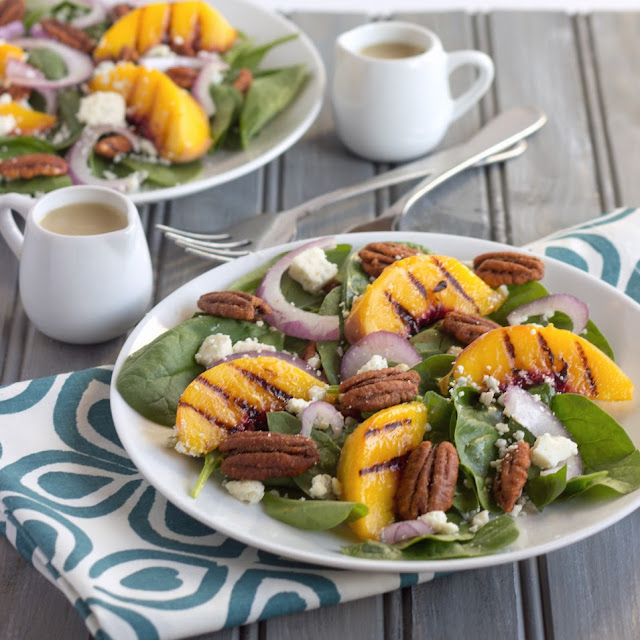 Peachy Keen Salad | Cooking on the Front Burner #salad #peach # recipes