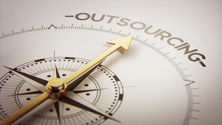 Golden compass outsourcing concept