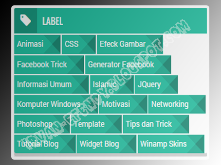 (Screenshot) Cara Membuat Widget Label cloud Flat UI