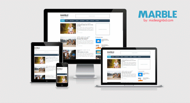 Marbels include SEO optimized blogger template