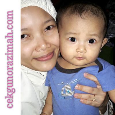 dhia zahra, bayi 8 bulan, budak bambam, cikgu norazimah