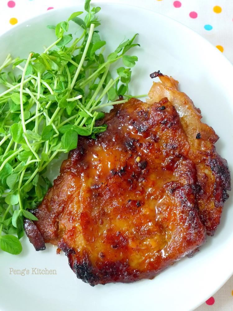 Peng's Kitchen: Ramen Burger - Grilled Miso Chicken