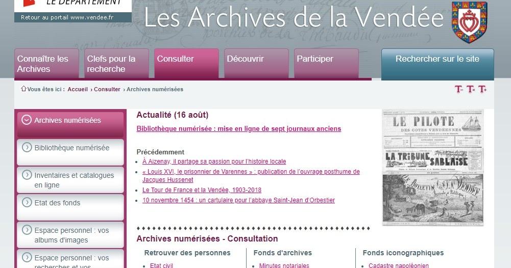 Archives Départementales de Vendée, cas concret de recherches au XIXème siècle