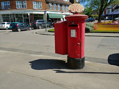 Photograph of Pillar box ER on Bradmore Green, Brookmans Park Image from the North Mymms History Project released under Creative Commons