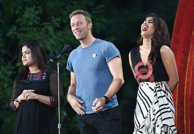 Priyanka Chopra,Poonam mahajan,Chris martin at Global Citizen Festival