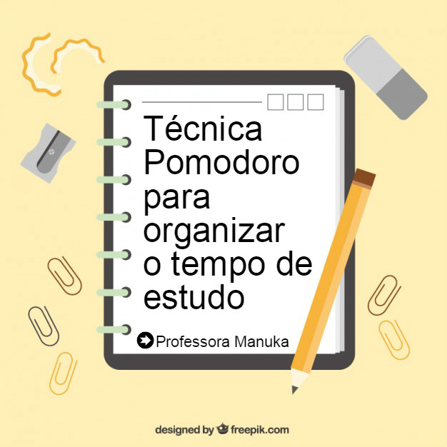 Técnica Pomodoro para organizar o tempo de estudo