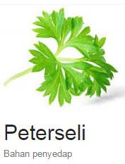 Pengobatan Herbal menggunakan Peterseli