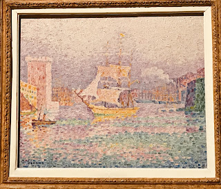 The Hermitage Museum's oil painting by Paul Signac, entitled 'Leaving the Port of Marseilles', 1906/07