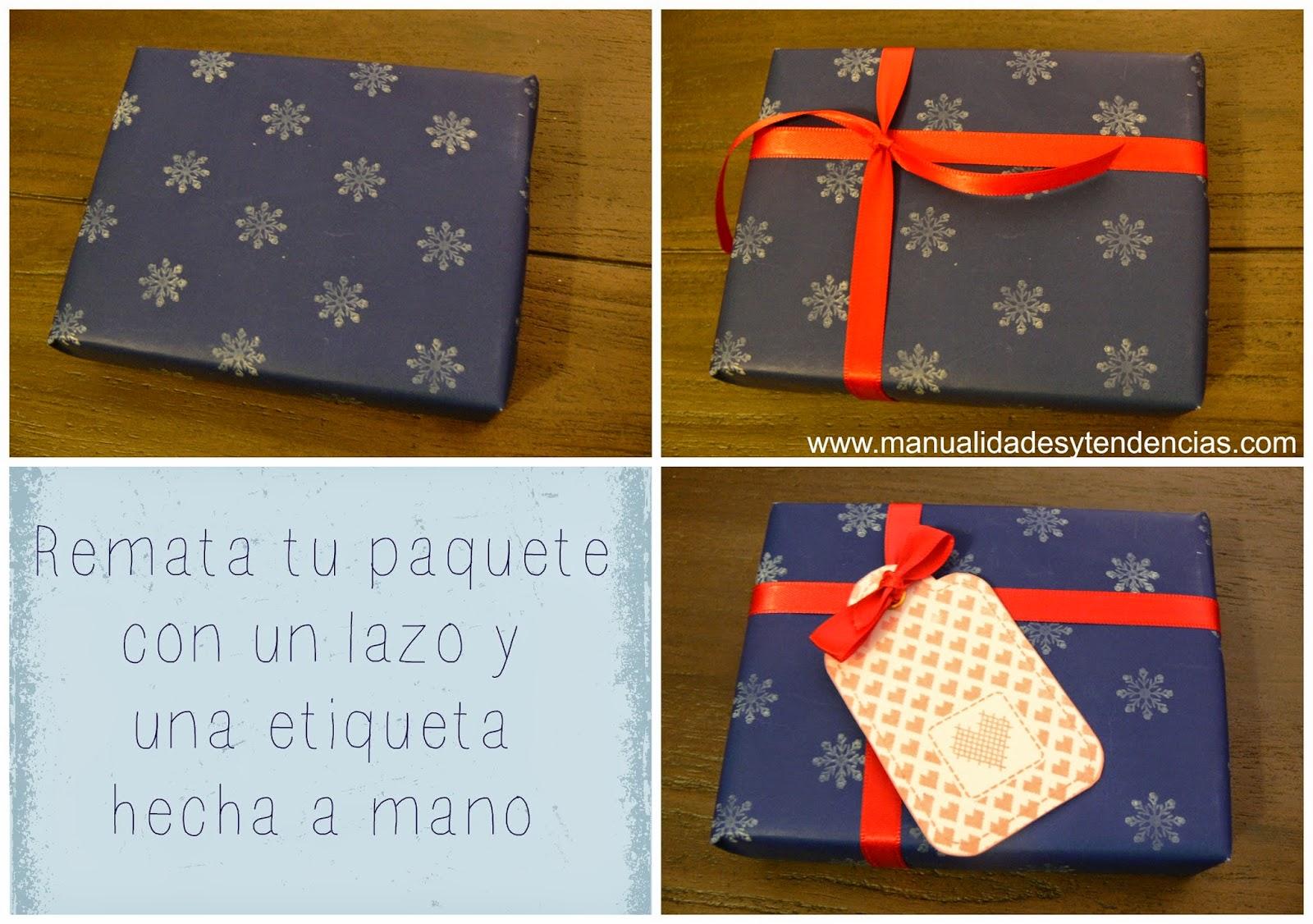 Cómo decorar papel de regalo