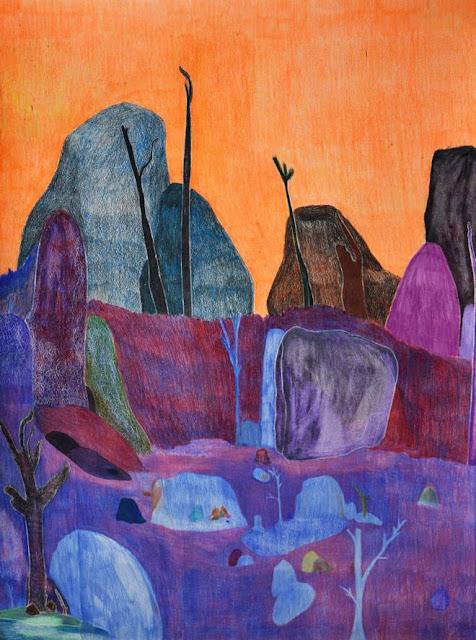 "Arte, pintura por Ross Taylor, ""Black Hill no. 12, 2017"", pencil on paper."
