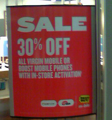 30% off all Virgin and Boost Mobile phones at Best Buy
