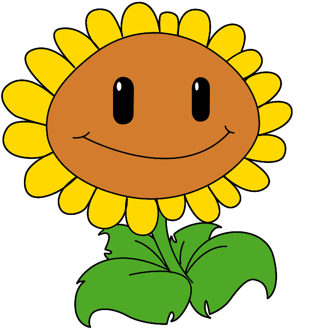 How To Draw The Sunflower From Plants Vs Zombies - Draw ...