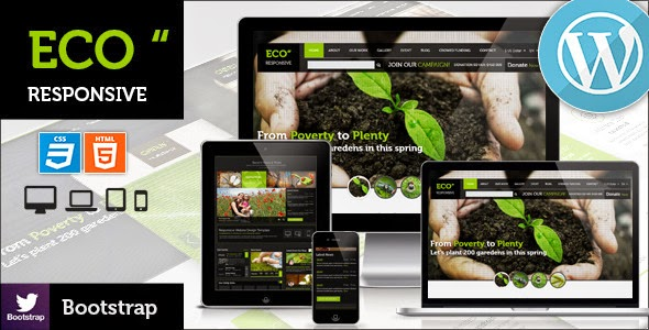 ECO v2.0 – Responsive Environment WordPress Theme
