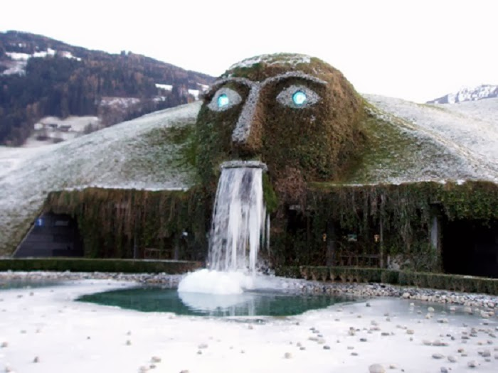 Innsbrück, Austria - Winter Blast Transforms Water Fountains Into Magical Ice Sculptures